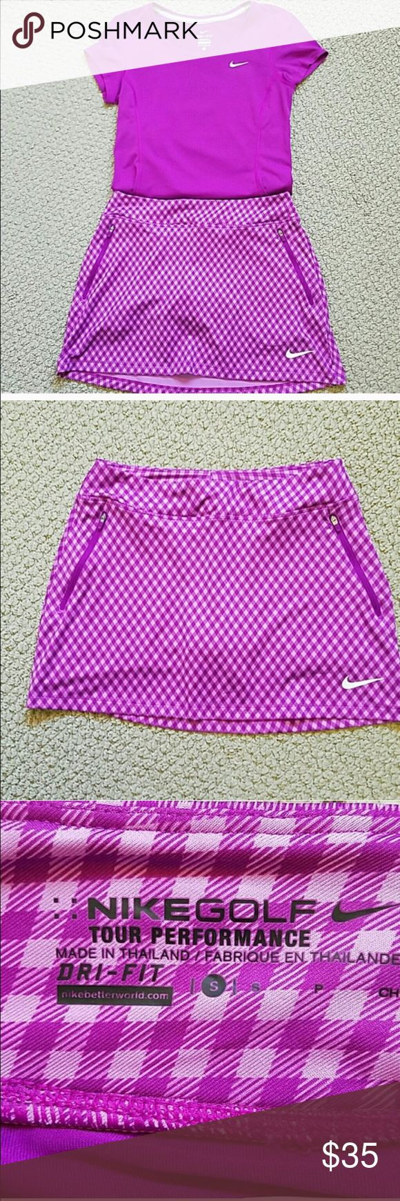 Nike Dri-Fit Golf Skort NWOT. Two front zipper pockets and one open back pocket. Nike Shorts Skorts