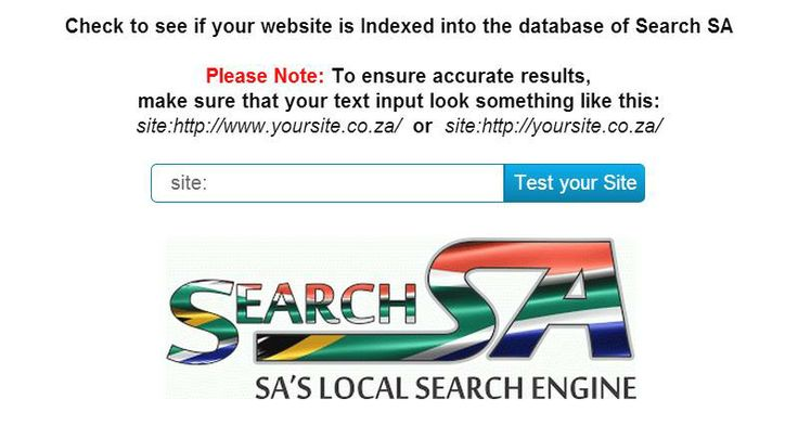 SOUTH AFRICANS - WEBSITES - BUSINESSES  Check here to see if your website or business is Indexed into the database of  SEARCH SA - SA's Local Search Engine   http://www.print-index.co.za/WebbookMaster+Tools