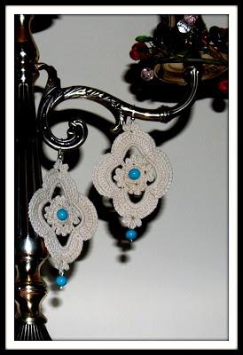 Orecchini a uncinetto  - ile roby bijoux -https://www.facebook.com/ilerobybijoux