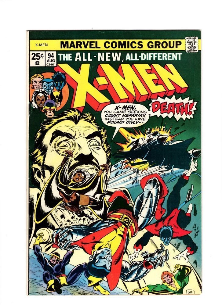 X Men 94 All New Team Begins 1975 Signed By Chris Claremont High Grade Collectibles Comics Bronze Age Rare Comic Books Marvel Comics Covers Comics