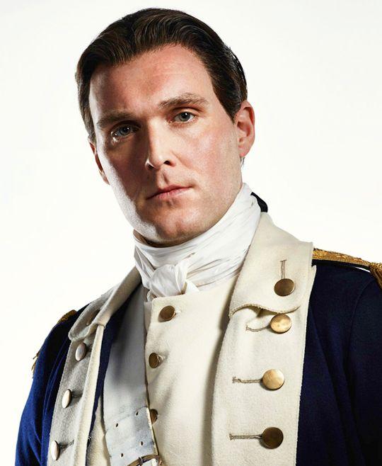 Owain Yeoman as Benedict Arnold in Season 2 of TURN: Washington's Spies
