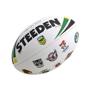 Steeden NRL All Team Logo Rugby Ball