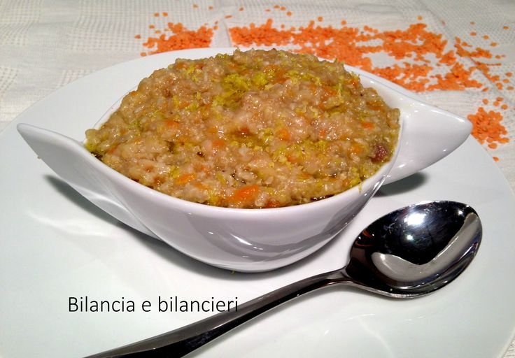 Zuppa di amaranto miglio e lenticchie. L'amaranto una pianta sacra: i romani le attribuivano il potere di tenere lontana l'invidia e la sventura.