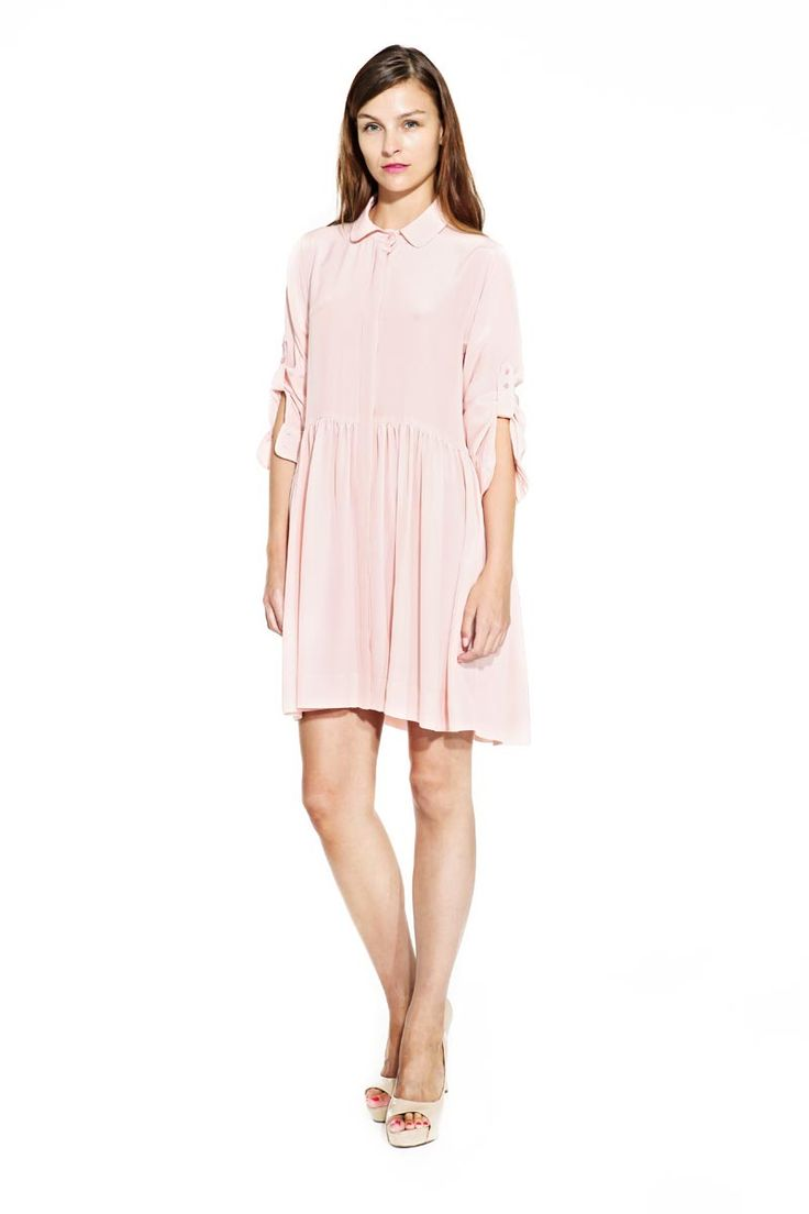 IMRECZEOVA SS14 powder pink silk dress