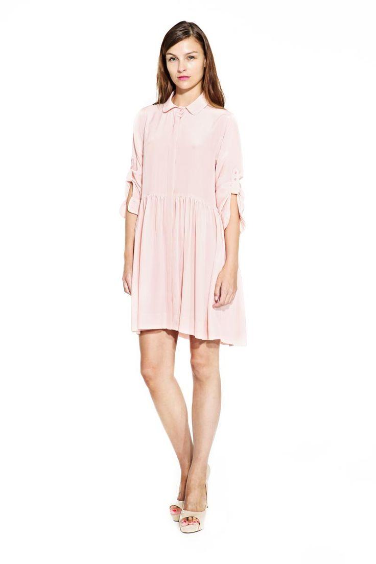 IMRECZEOVA SS14 powder pink silk dress