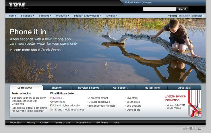 IBM website in 2010