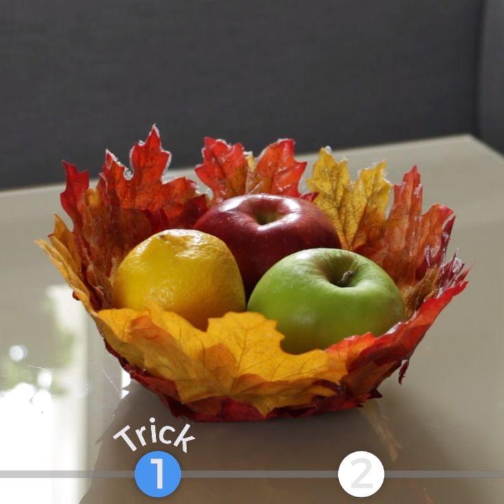 Schale mit Herbstlaub   – Herbst – DIY Ideen