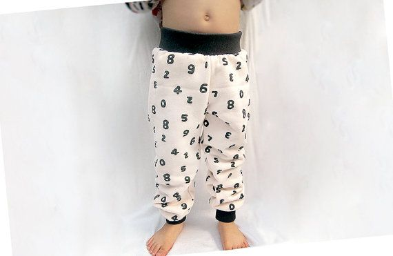 Number French Terry Fleece Pants!!