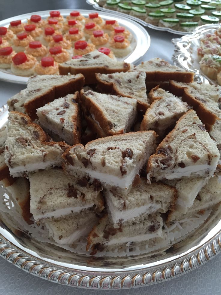 Raisin Bread Tea Sandwiches! Catering by Debbi Covington - Beaufort, SC