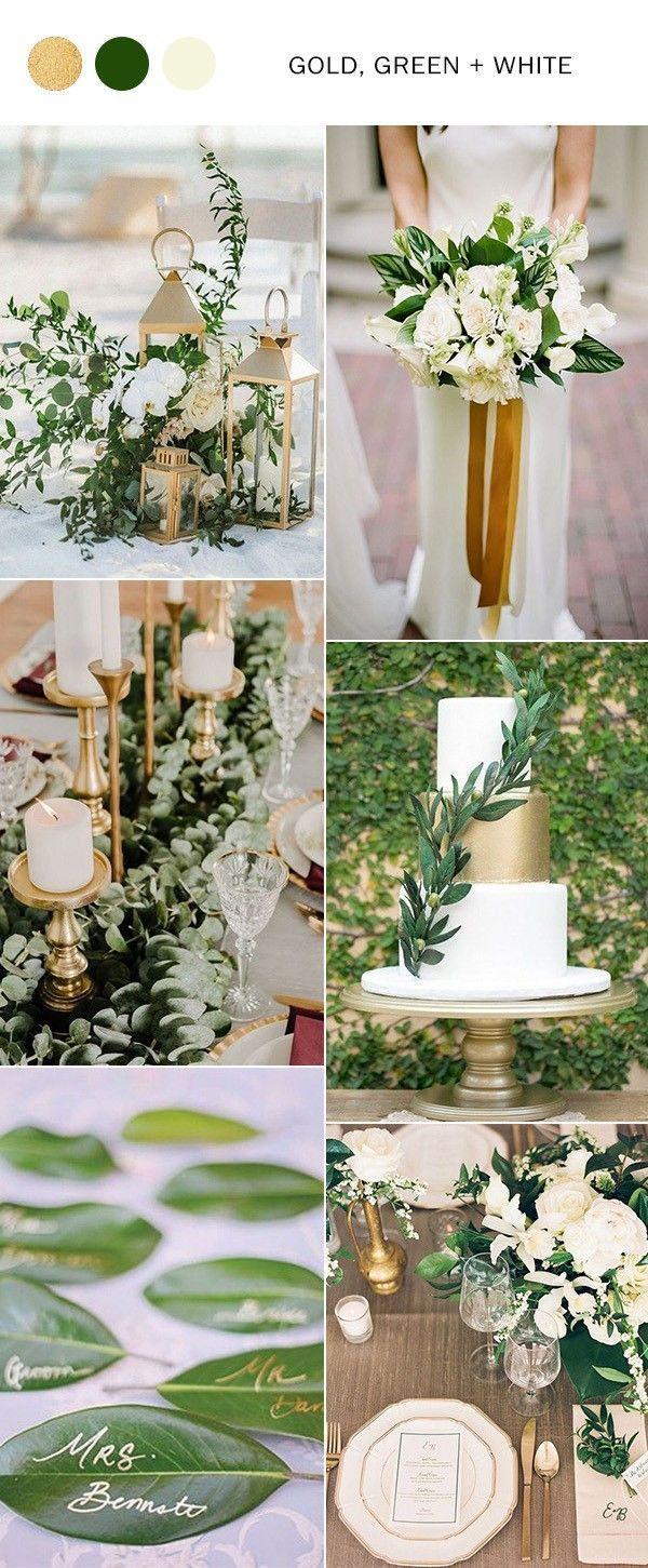Gold Green And White Elegant Wedding Color Ideas Weddinginspiration Weddingcolors Greenweddin Elegant Wedding Colors Gold Wedding Colors Green Gold Weddings