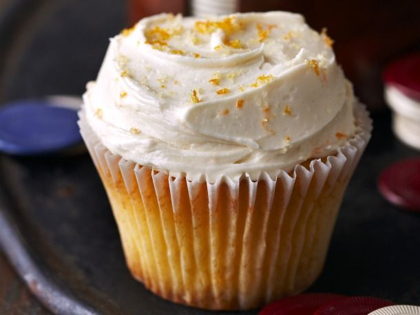 The cupcakes include all of the components of an Old Fashioned cocktail: whisky, bitters, and orange.