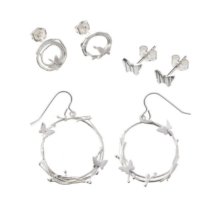 Silver 'zephyr' earrings #handmadejewelry #butterfly #butterflies #jewellery