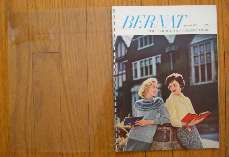 Vintage Bernat Knitting Book 67 The School & College Look 1958 Women's…