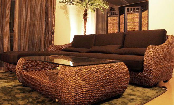 ハイクオリティな家具でコーディネートされたバリ風インテリア