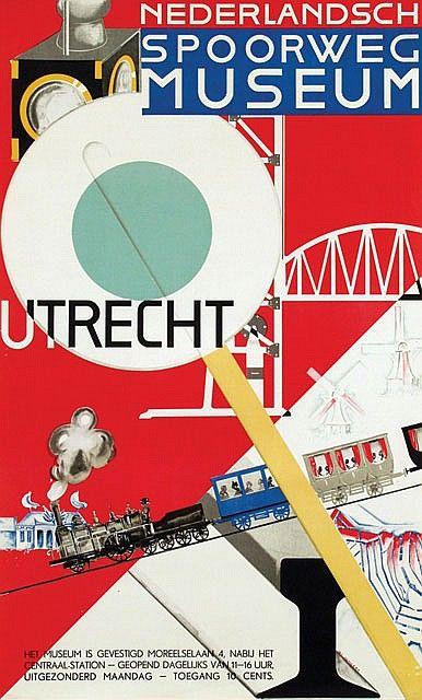 Poster by Jac. Jongert 1930 - Nederlandsch Spoorweg Museum