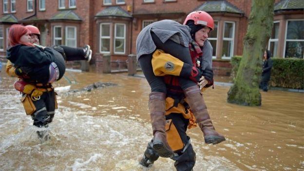 Flood rescue in Carlisle