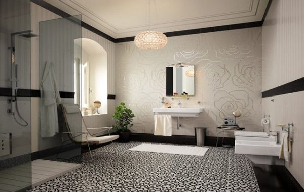 15 Lovely Bathrooms with Decorative Wall Tiles
