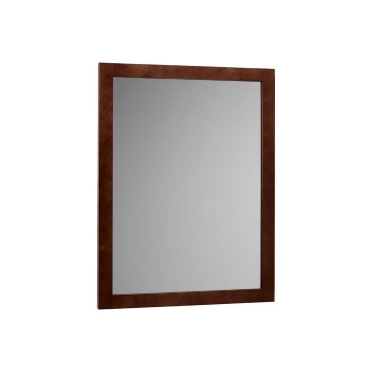 Ronbow Contemporary 24 in. W x 31.5 in. H Framed mirror in Dark Cherry
