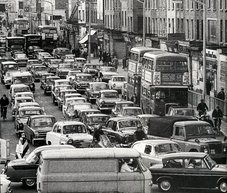 Elephant and Castle, 1965. (I can see a 68 bus, my route to visit Auntie Ethel, luckily it was never this busy)