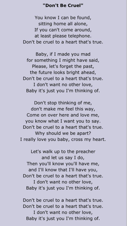 Elvis Presley - Don´t be cruel