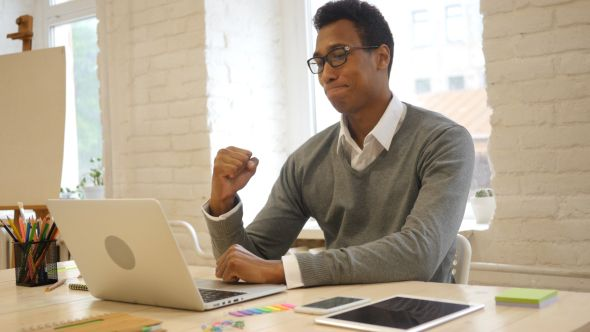 Successful Task Completion by Creative Black Man #African, #Black, #Business, #Businessman, #Completion, #Designer, #Excited, #Freelancer, #Man, #Project, #Stockwood, #Student, #Success, #Successful, #Task, #Working http://goo.gl/dF5UIn