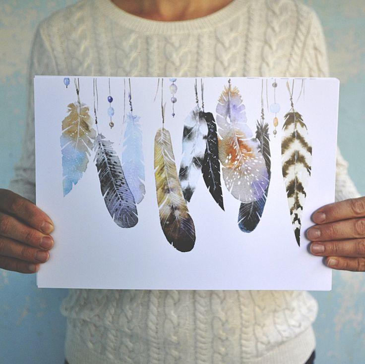 Перья с бусинами