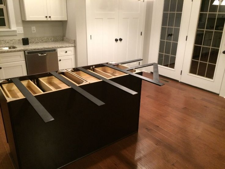 Hidden Island Support Bracket Kitchen Remodel Countertops