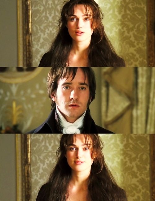 """I was trying to give the impression that Darcy was shocked into staying put... by the sight of her"".  (Joe Wright, Director)"