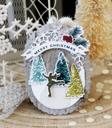 Merry Christmas Tag by Melissa Phillips for Papertrey Ink (October 2017)