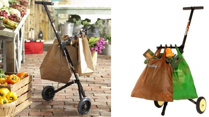 Great for farmers markets, etc. anywhere you might end up taking your own bags, you can pull instead of carry them with you