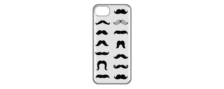 I love the contrast of the black on white as it creates a demand of attention towards the black facial hair designs on the case. The perfect alignment also makes following each new hair design feel natural, and easy to follow.