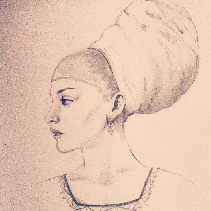 Lady with turban. (2015)