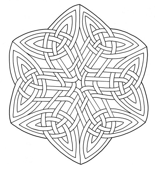 Celtic Knotwork Coloring Page