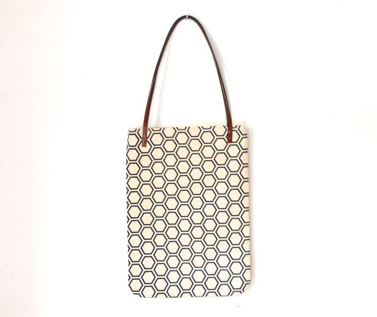 Cotton tote bag, laptop bag, japanese pattern bag, silkscreen print bag, school bag, japanese tote bag by UMEHARAKABAN on Etsy