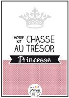 Kit Princesse - anniversaire enfant - chasse au trésor - Happy KITS