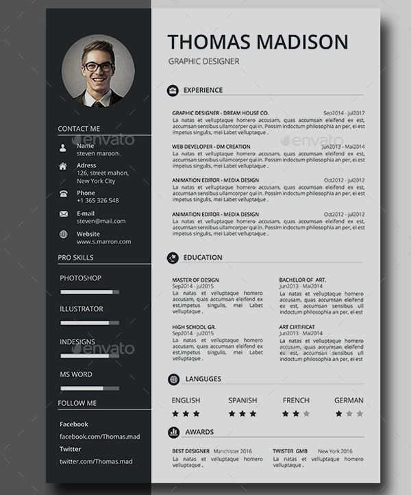Unlimited Downloads Resume Templates And Edit Using The Resume Builder Unlimited Design Creative Resume Template Free Resume Design Free Resume Template Word