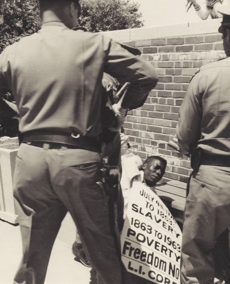 "https://flic.kr/p/bYxKiu | Sit-In and Demonstration (Atlanta, Georgia): Congress of Racial Equality (CORE) (1963) | <b>Housed:</b> Box: 6  Folder: 9  Job: 21446K <b>Notes:</b> A young CORE demonstrator is attacked by Atlanta police while picketing in support of civil rights and integration.    <b>Preferred Citation:</b> <a href=""http://cat.libraries.psu.edu/uhtbin/cgisirsi/0/0/0/5?searchdata1=^C4758935"" rel=""nofollow"">Robert Joyce papers, 1952-1973</a>, Historical Collections and Labor…"