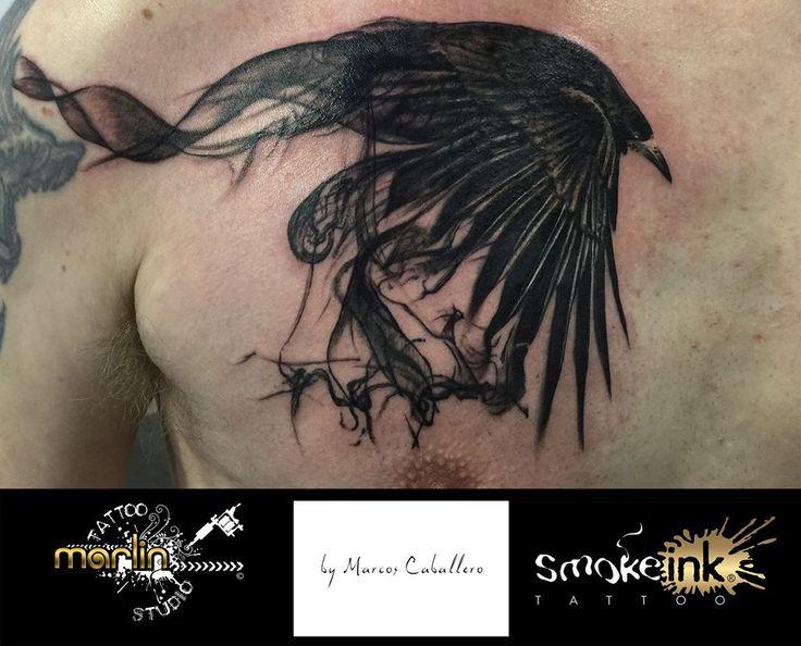 Raven smoke ink ® tattoo by Marlin Tattoo Studio Essen