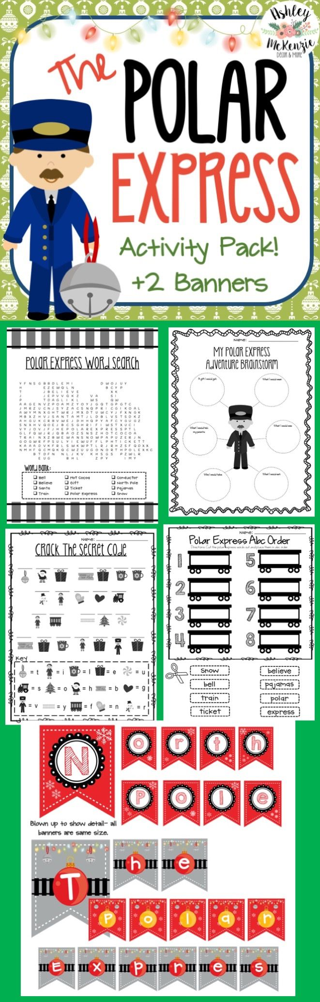 The Polar Express Activities Pack! Repinned by SOS Inc. Resources pinterest.com/sostherapy/. 13d