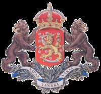 """Unapproved design for the greater coat of arms of Finland. The motto says """"free, strong, steadfast"""". Bear is the national animal of Finland, but we do love our lion :-)"""