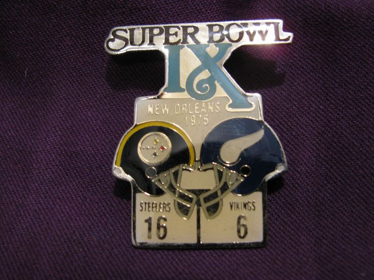 Super Bowl IX 1975 pin, Steelers vs Vikings, FREE SHIPPING, official NFL  #PittsburghSteelers