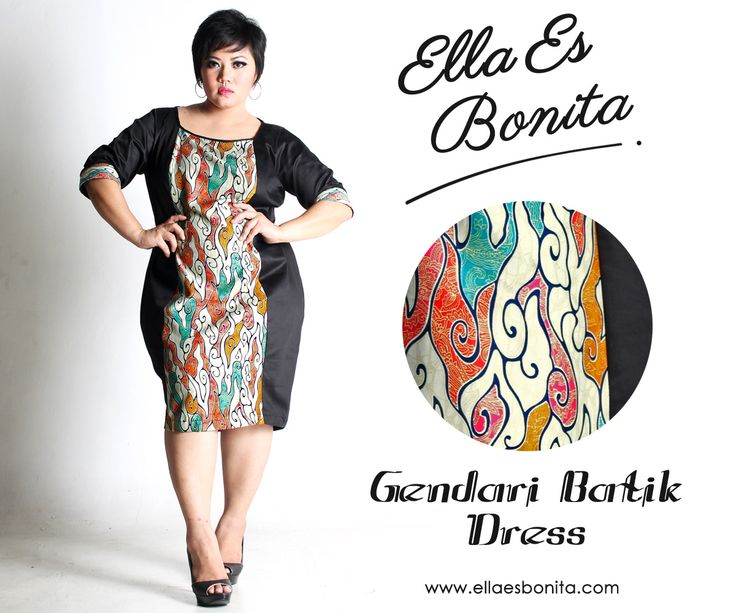 Gendari Batik Dress - This bodycon batik dress features high quality stretch twill and batik cotton, polyesther batik cotton, and silk batik which specially designed for sophisticated curvy women originally made by Indonesian Designer & Local Brand: Ella Es Bonita. Available at www.ellaesbonita.com