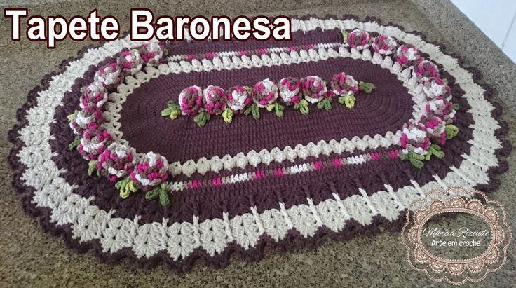 "Tapete Baronesa ""Marcia Rezende - Arte em Crochê"" - 1/4"