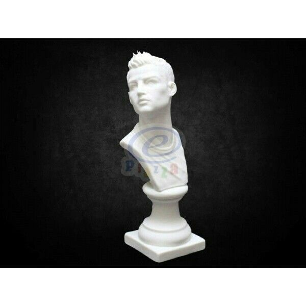 Handmade porcelain bust of Cristiano Ronaldo CR7