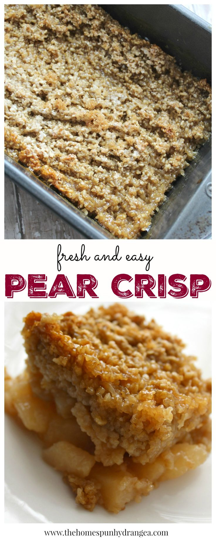 Find out how to use leftover pears to make your own pear crisp recipe like you see here!