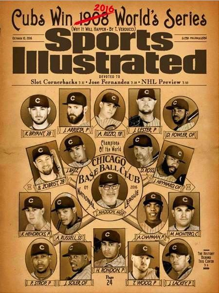 Sports Illustrated October 10, 2016 MLB CHICAGO CUBS Win 2016 WORLD SERIES