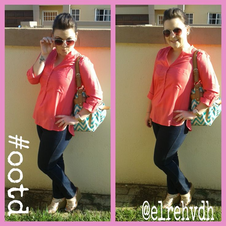 #OOTD Some inspiration from Pinterest! Jean-Woolworths Shoes and Top-Foshini Bag-Avon Sunglasses-Zando Rose Gold Watch - Fossil This outfit is REALLY comfy!