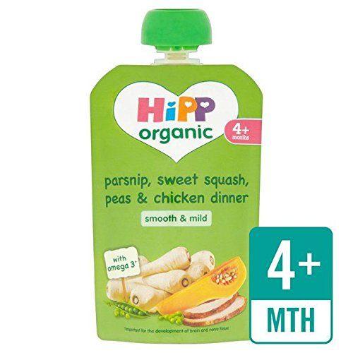 HippOrganico Pastinaca, Dolce Zucca E Cena Pollo 4+ Mesi 100G (Confezione da 6)