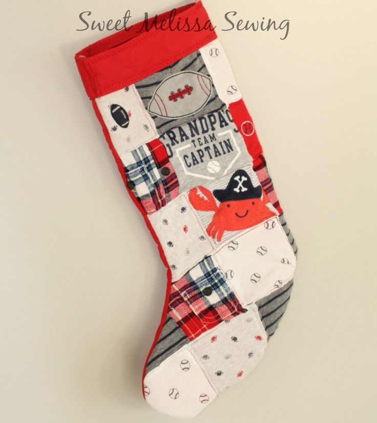 Memory Quilt Christmas Stocking Baby Clothes* Custom stocking using baby clothes*  Repurposed & Upcycled Baby Clothing by SweetMelissaSewing on Etsy https://www.etsy.com/listing/260620511/memory-quilt-christmas-stocking-baby