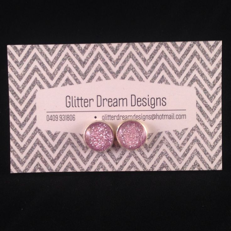 Order Code A10 Pink Cabochon Earrings
